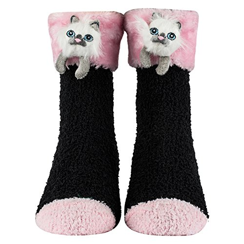 Fluffy Cat - Cozy Critter Socks (Kitty Cat)