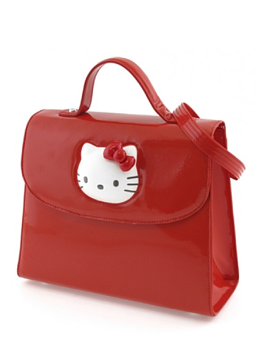 Hello Kitty Hello Borsa Rosso Kitty Glossy 07d7Ux8n