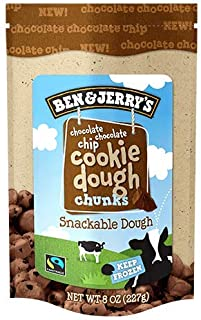 product image for Ben & Jerry's - Snackable Dough Chunks, Non-GMO - Fairtrade, Chocolate Chocolate Chip Cookie Dough, 8 Oz. Bag (8 Count)