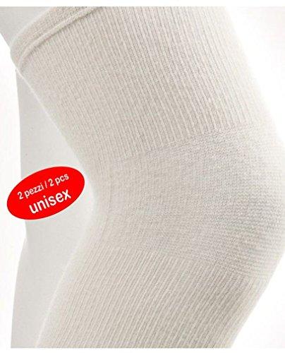 Knee warmer in Angora wool (2 pcs) Ecru Tg. (Angora Lambswool)