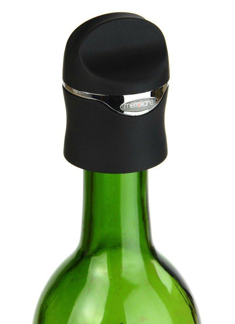 Metrokane Velvet Champagne and Wine Sealer, Set of 2