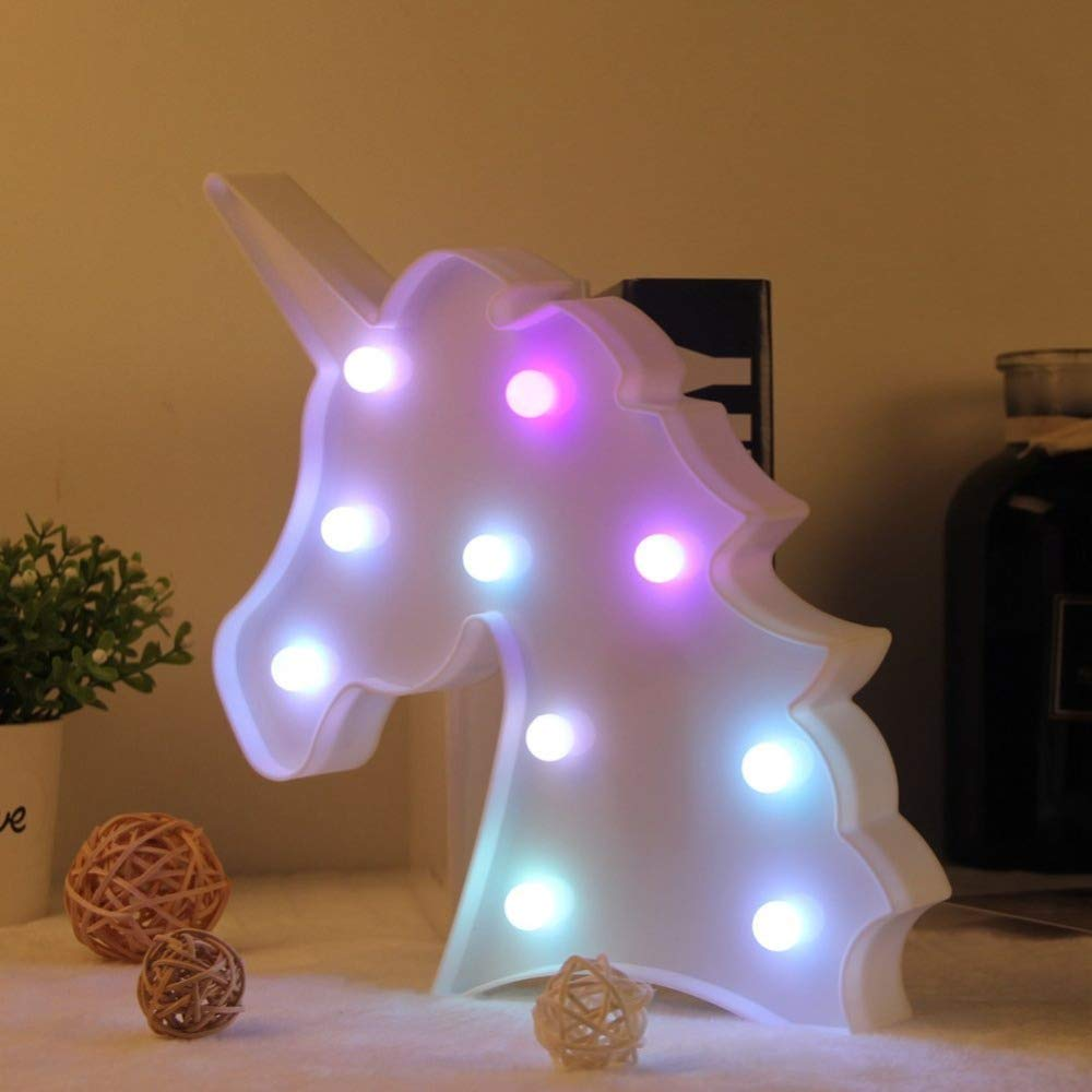 Amazon.com: Penxina Colorful Unicorn Light, Unicorn Party ...