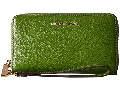 Mercer Large Leather Smartphone Wristlet - True Green ()