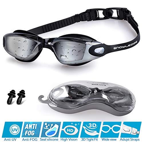 Snowledge Swim Goggles,Swimming Goggles No Leaking Anti Fog UV Protection,Swim Goggles Adult Unisex Men Women Youth Kids Children, Free Protection Case