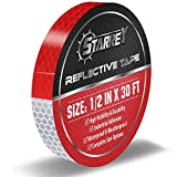 Starrey Reflective Tape Red White 1/2 in X 30 FT