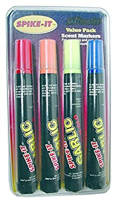 Spike-It Dye Marker Set, Garlic Chartreuse/Red/Orange/Blue