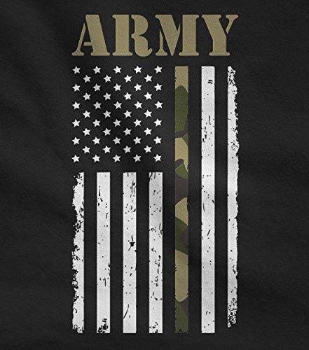 Big U.SA Army Flag - Gift for Soldiers, Veterans Military Long Sleeve T-Shirt X-Large Black