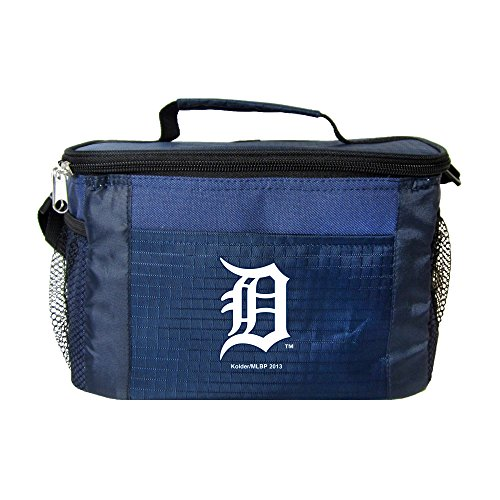 (Kolder MLB 6 Can Cooler Bags - Detroit Tigers Blue - Insulated Lunch Box or Tote)