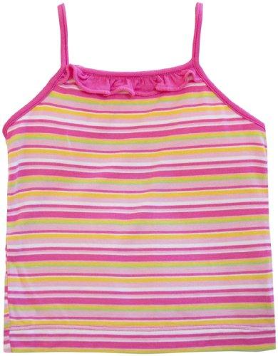 KicKee Pants Baby Girls' Print Ruffle Tank (Baby) - Island Girl Stripe - 12-18 Months