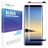 Galaxy Note8 Screen Protector, PLESON Samsung Galaxy Note 8 Tempered Glass Screen Protector, [Case Friendly] [Bubble-Free] [Anti-Scratch] 9H 3D Curved Glass Screen Protector for Galaxy Note 8, Black