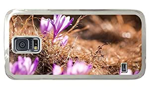 Hipster Samsung Galaxy S5 Case best cover crocuses PC Transparent for Samsung S5