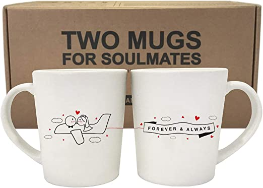 Amazon Com Boldloft Forever Always Wedding Couple Coffee Mugs