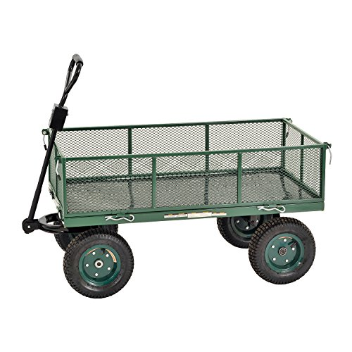 Powder Wagon - Sandusky Lee CW4824 Muscle Carts Steel Utility Garden Wagon, 1000 lb. Load Capacity, 21-3/4
