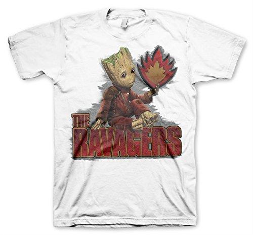 Offizielles Lizenzprodukt The Ravengers Herren T-Shirt (Weiß)