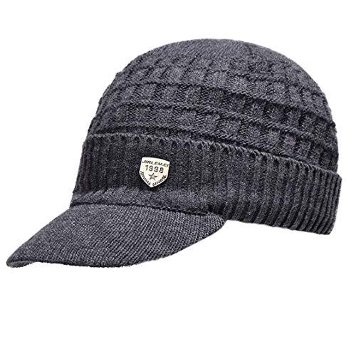 Acvip De Sports Homme Dark Plein Cercle Hiver Et En Bonnet Des Écharpe Air Hat Grey Tricot Ensembles Visière À Chaud Chapeau BB4rq