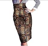 Vska Women's Highwaist Africa Floral Print Batik Hijab OL Bodycon Skirt 10 2XL