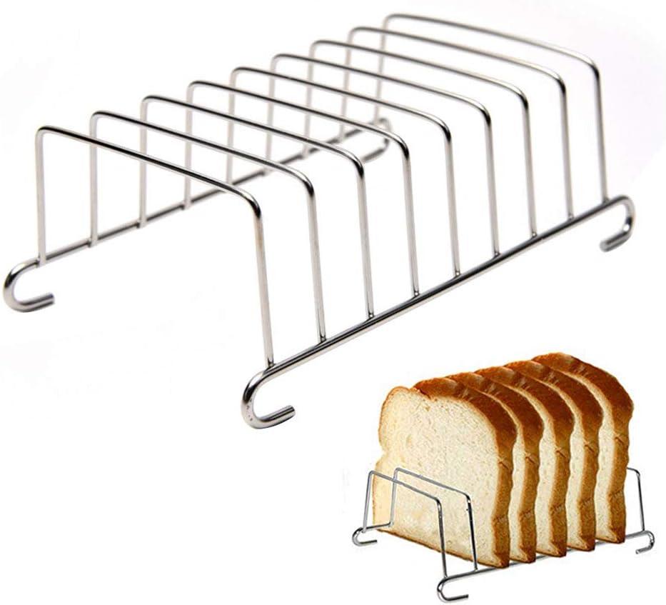 Bread Rack Air Fryer Accessories,8 Slice Stainless Steel Air Fryer Bread Rack Rectangle Pancake Holder Air Fryer Bread Cooling Grid