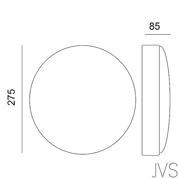 Aufbauleuchte Wandleuchte LUNOS Polycarbonat und ABS Material Deckenleuchte