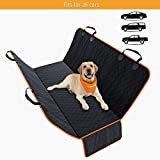ONE DAY SALE! Dog Back Seat Cover Protector Design in USA– Waterproof Scratchproof, Nonslip Hammock for Dogs. Backseat Protection Against Dirt and Pet Fur Durable Pets Seat Covers for Cars Trucks SUVs