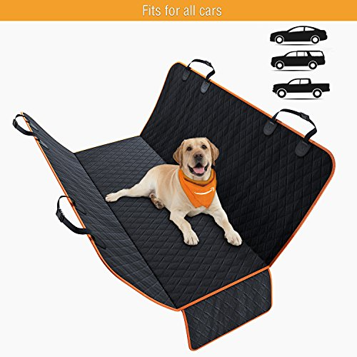 ONE DAY SALE! Dog Back Seat Cover Protector Design in USA Waterproof Scratchproof, Nonslip Hammock for Dogs. Backseat Protection Against Dirt and Pet Fur Durable Pets Seat Covers for Cars Trucks SUVs