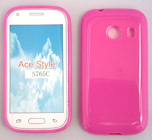 TPU Gel Pink Phone Case Cover for Samsung Galaxy Ace Style / S765C SM-S765C / Samsung Stardust/SM-S766C S766c (Samsung Ace Style Phone Covers)