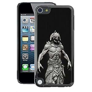 A-type Arte & diseño plástico duro Fundas Cover Cubre Hard Case Cover para Apple iPod Touch 5 (Monster Satan Abs Man Demon Black)