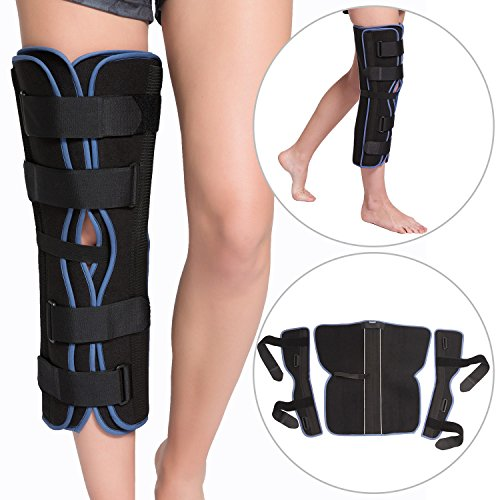 Tri-Panel Knee Immobilizer Brace - Comfort Rigid Support for ACL / MCL Tear, Osteoarthritis (OA), Torn Meniscus, Knee Fractures, Dislocated, Instability & Post Surgery Recovery by Velpeau - & Sports Tri Run