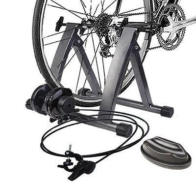 - New Magnetic Indoor Bicycle Bike Trainer Exercise Stand 5 levels of Resistance