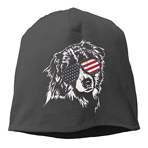 XVintageSkullCap Aussie America Shepherd Women/Men Wool Hat Soft Stretch Beanies Skull Cap Unisex ()