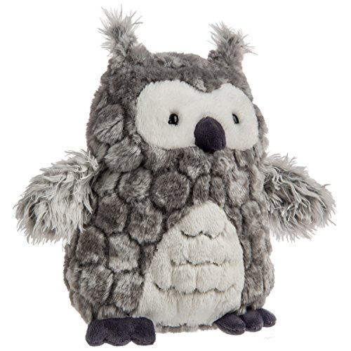 Mary Meyer FabFuzz Stuffed Animal Soft Toy, Smokey Owl, 12-Inches
