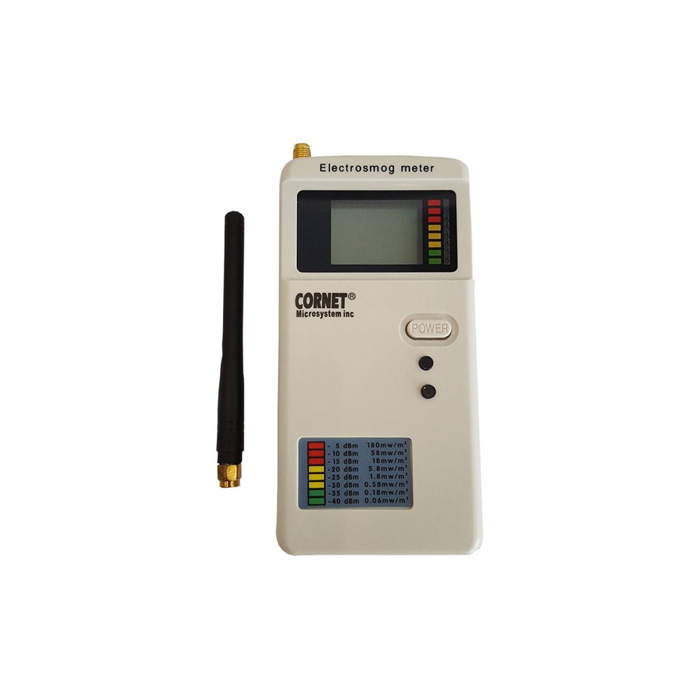 EMRSS Cornet ED85EXS RF Meter: Super Wide Bandwidth RF Power Meter (1MHz - 8 GHz) with Sound Signature Function and SMA Connector. Includes EVA carrying case
