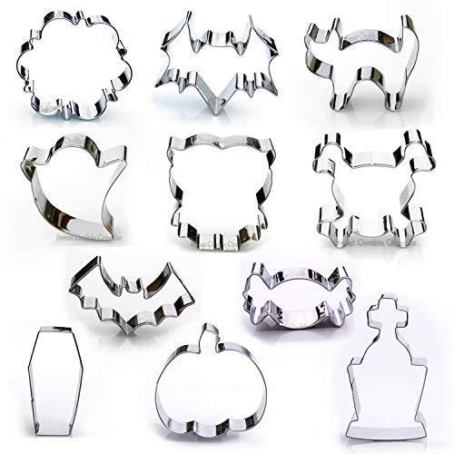 Halloween Cookie Cutter Set, 11 Piece, Stainless Steel ()