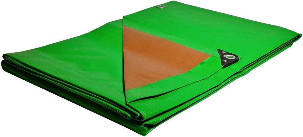B/âche Chantier 8x12 m Etanche Anti-UV Verte et marron /Œillets Tr/ès r/ésistante