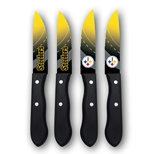 Sports Vault NFL Pittsburgh Steelers Steak Knive Set -