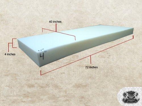 Medium Density 4'' x 40'' x 72'' Foam Sheet by FABRIC EMPIRE