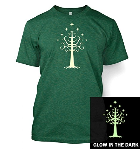 Glowing Tree of Gondor T-Shirt (Small (34/36)/Antique Jade Dome) Grün