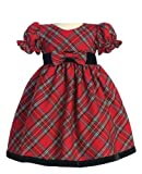 Holiday Christmas New Year's Girl's Dress Red Plaid Infant M 6-12 Months