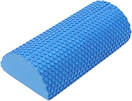 Greyghost Half Round Foam Roller, 30cm EVA Foam Roller with Massage Floating Point, Yoga Pilates Exercise Gym Fitness Yoga Blocks