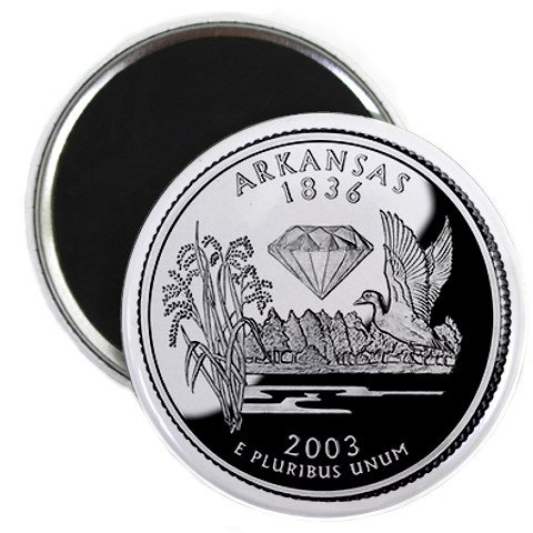 Arkansas State Quarter Mint Image 2.25 inch Fridge Magnet
