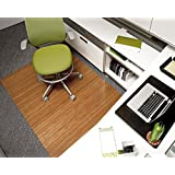 Bamboo Deluxe Roll-Up Chairmat, 72   x 48  , no lip