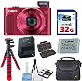 Canon PowerShot SX620 HS Digital Camera (Red) with 32GB High Speed Memory Card + Deluxe Camera Case + Flexible Spider Tripod + Starter Kit & Deluxe Accessory Bundle