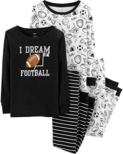 Carter's Boys' 4 Pc Cotton Pj (8, Dream of Football) -