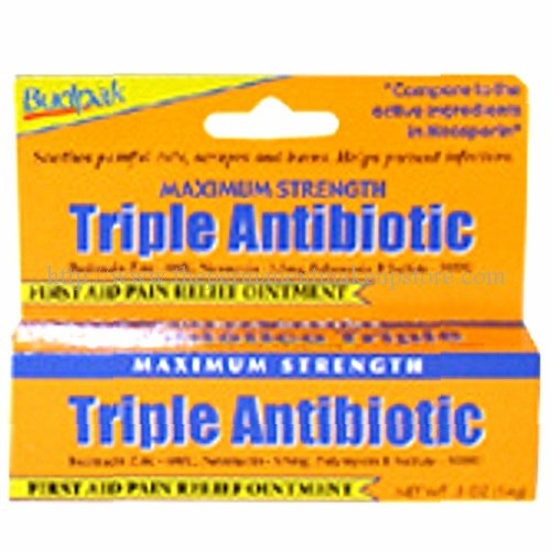 Maximum Strength Antibiotic (Budpak Maximum Strength Triple Antibiotic Ointment -- 0.5 oz)