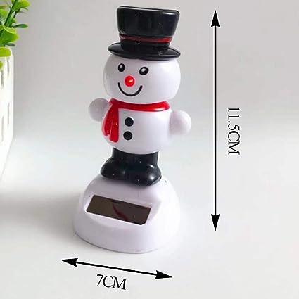 Doll Decoration Toys Moving Head Figures Solar Snowman S Christmas Car Decorations Wupettier Car Dashboard Solar Powered Dancing Toys