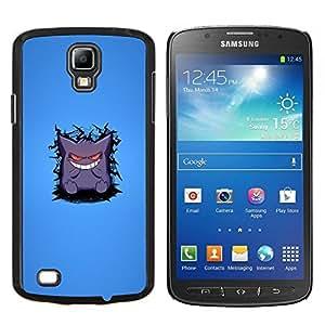 TECHCASE---Cubierta de la caja de protección para la piel dura ** Samsung Galaxy S4 Active i9295 ** --Monstruo lindo dientes blancos Sonrisa Arte de la historieta
