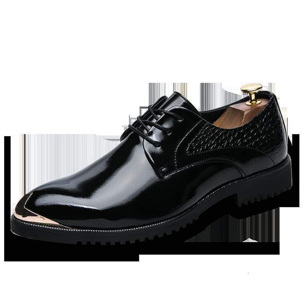 Männer schnüren Kleid Sich Oben Lackleder Oxford Kleid schnüren Schuhe Formale Hochzeit Schuhe Schwarz 5477ca