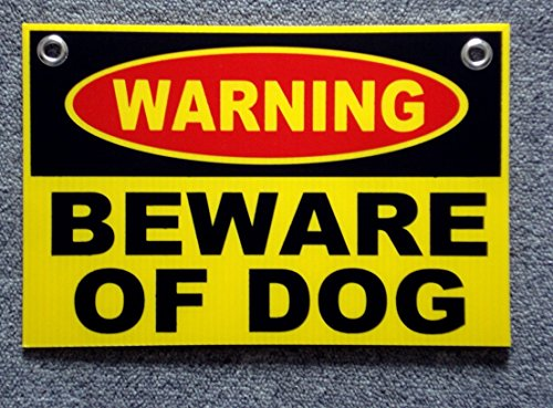1 Set Defectless Popular Warning Beware Dog Signs Coroplast Plastic Board Indoor Message Size 8