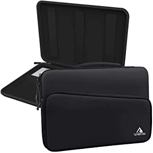 Smatree Hard Protective Laptop Sleeve Compatible with 15.4 inch MacBook Pro 2019/ 2018,New Dell XPS 9500, Microsoft Surface Laptop 3, Shockproof Notebook Tablet Sleeve Case with Accessory Pocket