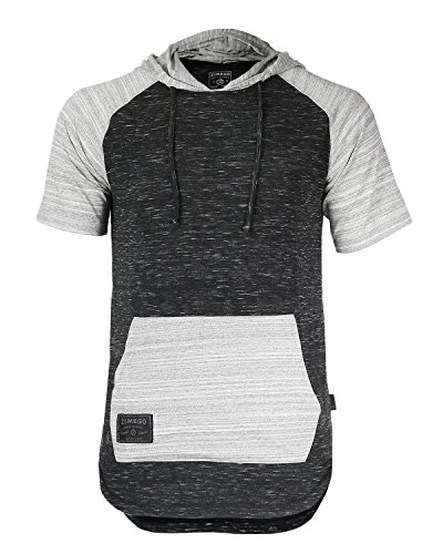 (ZIMEGO Men's Short Sleeve Pullover Hoodie Lightweight Soft Jersey Hooded T-Shirt)