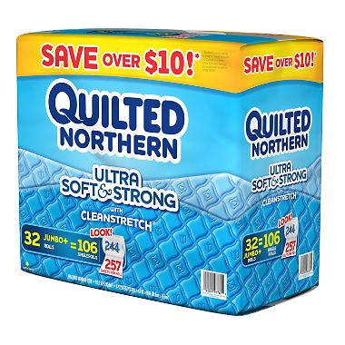 Quilted Northern Ultra Soft Bathroom Tissue, 2-Ply (32 Jumbo Rolls, 257 Sheets)